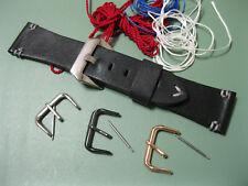 Handmade Leather Men's Watch Strap for Panerai 26/22mm, Black