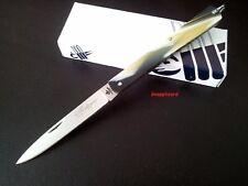"""Stiletto 4-5/8"""" Fraraccio Italy Siciliano Buffalo Horn Folding Pocket Knife EDC"""