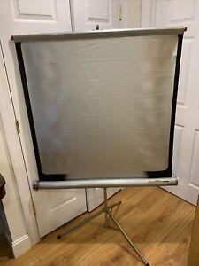 """Silver king Da-Lite Flyer Projector Projection Screen 40"""" x 40"""" Tripod"""