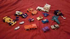 1988 Hasbro Takara Rare Lot 7 Minis, 4 transformers, 2 license plates 1990 LOT