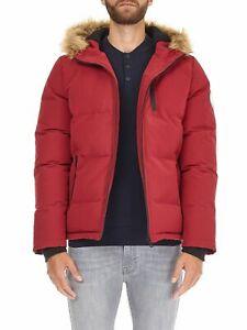 Burton Man's Wear Red Birch Fur Hooded Padded Jacket Size Large RRP £75 VR123 01