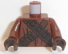 Lego SW Torso x 1 Dark Brown and Black Pouches and Straps Pattern  (Jawa)