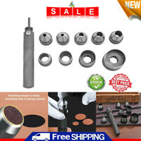 10pcs Heavy Duty Hollow Punch Kit Tool Set Gasket Leather Rubber Punching Holes