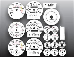 1978-1985 Chevrolet Monte Carlo METRIC KMH Instrument Cluster White Face Gauges