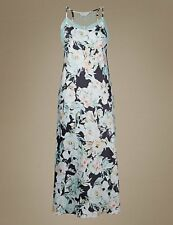 M&S Marks & Spencer Collection Floral Satin & Lace Long Nightdress 8-22 NEW