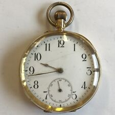 Antique 18ct Solid Gold Pocket Watch 5cm Not Working For Spares / Repair A/F 78g