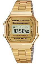 CASIO CLASSIC LEISURE GOLD DIGITAL WATCH | CHRONO A168WG-9E QUARTZ RRP £80