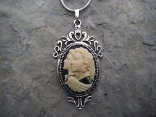 GUARDIAN ANGEL, SISTERS, MOTHER, DAUGHER, FRIEND CAMEO NECKLACE--925 PLATE CHAIN
