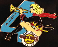Hard Rock Cafe KRAKOW 2014 4th Anniversary PIN Sexy Girl Blowing Trumpet #80816