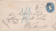 United States 1892 Brooklyn NY to Westernik Sweden 25C Tax Stamp Cover VGC
