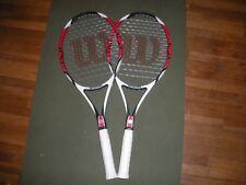 2x Wilson Pro Stock racquets Original Pro Staff 6.0 95 k factor pj 4 3/8