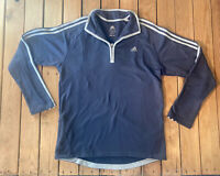 Adidas Men's Long Sleeve Half zip Pullover Top Size L In Grey G4