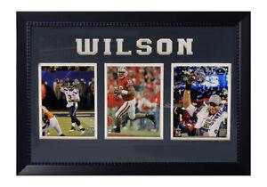 NFL Seattle Seahawks - Russell Wilson, 20x32, 3 Photo Black Framed