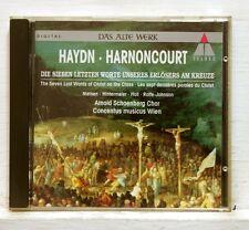 NIKOLAUS HARNONCOURT - HAYDN 7 last words of Christ TELDEC CD no IFPI NM
