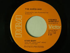 The Guess Who 45 STAR BABY / MUSICIONE ~ RCA VG++ rock