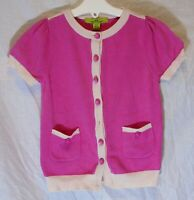 Girls Little Willow Blossom Pink Thin Knit Short Sleeve Cardigan Age 4 Years