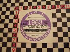 ITALIANO BOLLO 1963-FIAT 500 600 126 LANCIA BETA GIULIETTA ALFA GTV ABARTH