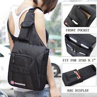 SwissGear Crossbody Sling Bag Chest bag Mens Shoulder Bag Casual Hiking Backpack