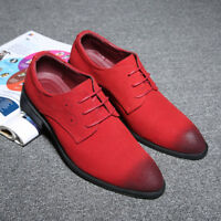 Men's Suede Oxford Leather Shoes Loafers Flats Casual Lace Up Business Dress New