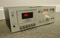 Clean AKAI CS-702D Cassette Recorder Player Stereo Tape Deck, Works w/ Issues