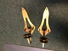 Pair of Vintage Bronze Finish Solid Brass Candle Holders Wall cups