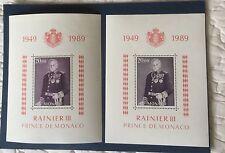 Monaco Bloc N° 45 Et 45 a Lilas Brun Et Variete Brun Gris TTB Choix Cote 403€