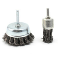 Twist Knot Wire Wheel Brush Set Stainless Steel Rotary Brush For Angle Grinder