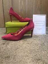 Ted Baker Hot Pink Vyixyns Heels Shoes, Peach Lining UK 4 EU 37,BNIB, RRP £135