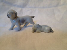 Vintage Set of 2 Bone China Dog Figurines - Made in Japan