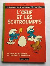 BD L'oeuf et les Schtroumpfs + Le faux + Le centième Schtroumpf T4 EO 1968 PEYO
