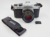 VINTAGE ASAHI PENTAX K1000 35MM CAMERA W/ SMC PENTAX-M 1:2 / 50MM LENS & STRAP