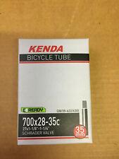"""700x28-35c Kenda Bike Inner Tube Schrader NEW 27in x 1-1/8"""" 1-1/4"""" AV35 Charity!"""