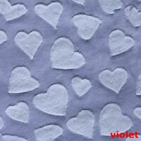 DIY Heart Velvet Velour Cloth Fabric for Bedding Blanket Material Sewing Crafts