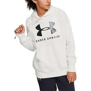 NEW Under Armour Womens Rival Fleece Sportstyle Long Sleeve Graphic Hoodie