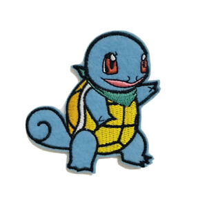 🇬🇧UK SELLER Pokemon Iron On Patch Embroidered Sew on Squirtle