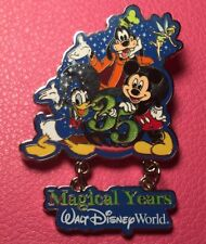 DISNEY PIN - MICKEY MOUSE GOOFY DONALD DUCK TINK 35 Magical Years Dangle WDW