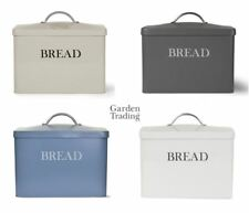 Garden Trading Retro Steel Large Bread Bin Storage Box Blue, Clay, Grey or Chalk