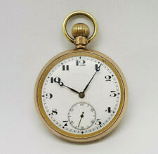 ANTIQUE GOLD PLATED WALTHAM POCKET WATCH 50 MM.