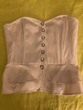 H&M Nude Corset style button top