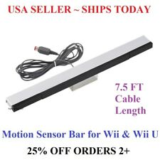 Wired Infrared Sensor Bar for Nintendo Wii Wii U Remote USA Seller