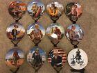 Franklin Mint Heirloom Plates JOHN WAYNE Collectable Plates Set of 11 + 1