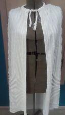 CHENILLE Vtg 40s 50s White Cotton Cape Summer Beach Jacket Coat L, XL