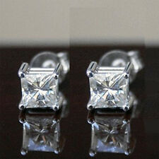 2.10 CT MOISSANITE PRINCESS SQUARE FOREVER ONE GHI EARRINGS