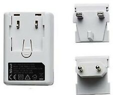 NEW TRUST UNIVERSAL 220-240V AC TO USB CHARGER WITH UK & EU CLIP-IN ADAPTORS