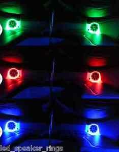 White Pack Of 1 LED Speaker Rings KPJL10Ring-1-W For JL Audio 10 Marine Subwoofer KingPin Tower Speakers