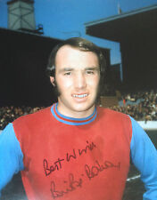 BRYAN POP ROBSON - WEST HAM UNITED LEGGENDA - AUTOGRAFATO COLORE FOTOGRAFIA