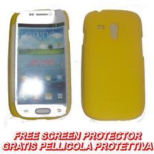 Pellicola + custodia BACK COVER GIALLA per Samsung I8190 Galaxy S3 SIII 3 mini
