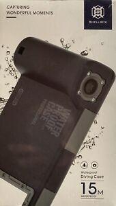 SHELLBOX Waterproof Diving Underwater Camera Case For iPhone Samsung  15M, NIB