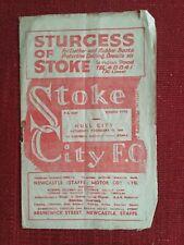 Stoke City v Hull City FA Cup 5th Round Programme 12/2/1949