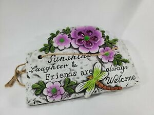 Butterfly Flower Quote Garden Plaque Stepping Stone